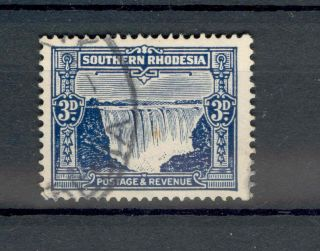 Southern Rhodesia Kgv 1931 - 37 3d Deep Ultramarine Sg18 photo