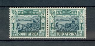 South Africa Kgvi 1938 Halfpence Vortrekker Fund Pair Mounted Sg76 photo