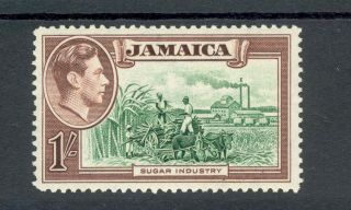 Jamaica Kgvi 1938 - 52 1/ - Green & Purple - Brown Sg130 photo