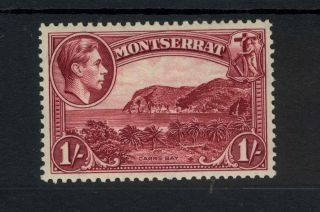 Montserrat Kgvi 1938 1/ - Lake Sg108 Perf 13 Mounted photo