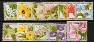 Pitcairn Islands Sg564/75 2000 Flowers photo