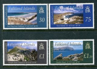 Falkland Islands 1058 - 1061, ,  2012 Coastal Landscapes Grave Cove.  X16078 photo