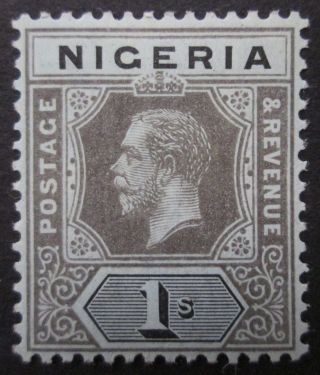 Nigeria Kgv 1s Black/blue - Green (pale Olive Back) Die 1 Sg 8d Mm photo