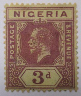 Nigeria Kgv 3d Purple/orange Buff (die 1) Sg 5c Mm photo