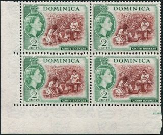 Dominica 1954 - 62 (qeii) 2c Chocolate And Myrtle - Green Sg142 Cv £5.  00+ photo