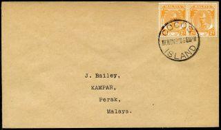 Malaya 1955 Kelantan 2c Pair Tied By