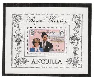 (53216) Princess Diana Wedding - Souvenir Sheet Anguilla - 1981 - U/m photo
