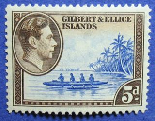 1939 Gilbert Ellice Is 5d Scott 46 Sg 49 Cs06901 photo