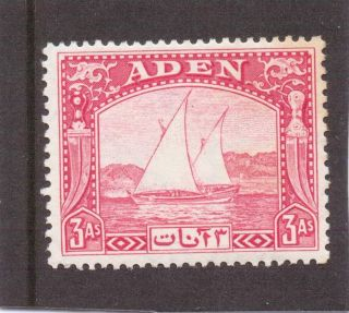 Aden Dhow 1937 3a Carmine Sg 6 H. photo