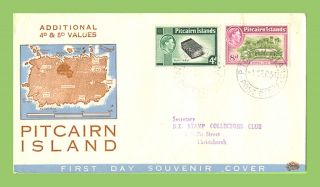 Pitcairn Island 1951 Kgvi Additional Values On Neat First Day Cover photo