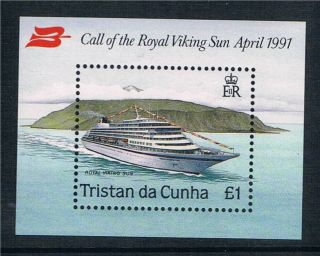 Tristan Da Cunha 1991 Royal Viking Sun M.  S.  Sg513 photo