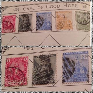 Qv - Cape Of Good Hope 5 X Stamp Selection Fine As Per Scans photo