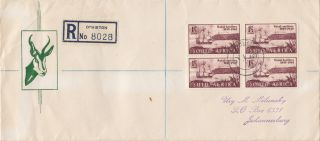 (29903) Clearance Cover South Africa Registered - Natal Settlers - 2 May 1949 photo