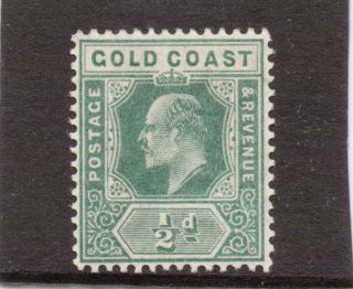Gold Coast E V11 1907 - 13 1/2d Dull Green Sg 59 H. photo