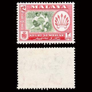 Malaya Negri Sembilan 1957 $2 Sg 78 Mh Cv £16 photo
