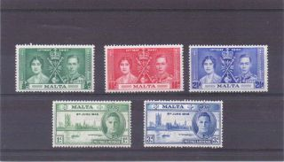 Malta G V1 1937&46 Coronation&victory Nhm photo