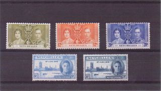 Seychelles G V1 1937&46 Coronation&victory Nhm photo