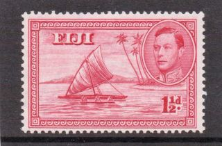 Fiji G V1 1938 1.  1/2d Carmine Die1 Sg 251 H. photo