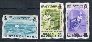 Tristan Da Cunha 1986 Shipwrecks Sg411/3 photo