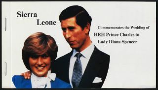 Sierra Leone 513,  5,  7 Booklet Charles & Diana Wedding photo