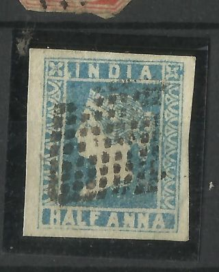 India - 1854 - 1/2as Litho Fine 4 Margin photo