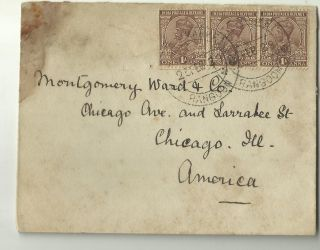 India - Usa - Burma - India In Burma Air Mail Cover To Usa Very Rare photo