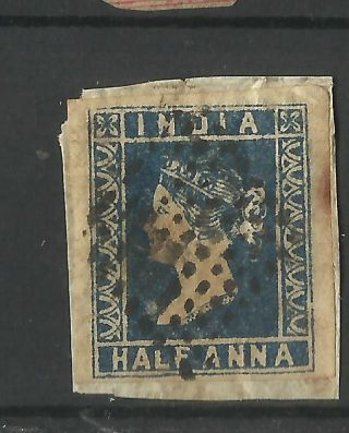 India - 1854 - 1/2as Litho Fine 4margin /on Paper photo