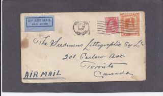 1932 1/ Kingston,  Jamaica Oct 17 - 1932 Cover To Toronto.  Canada photo