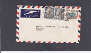 1950s 1/ Pr & 2/6d Johannesburg To Preston,  Canada Cover photo