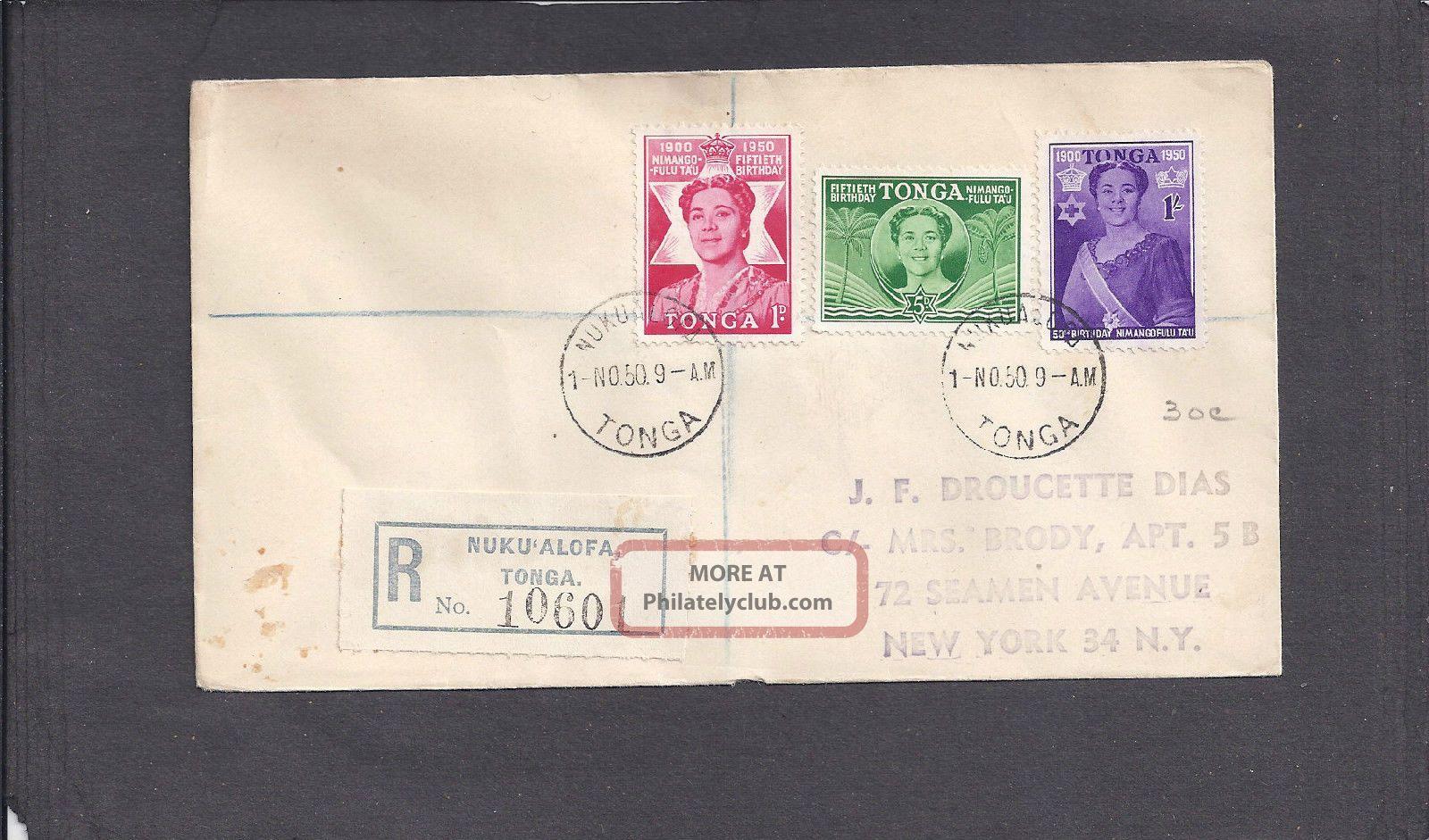 1950 Registered Birthday Issue Nukualofa,  Tonga Nov 1 - 1950 British Colonies & Territories photo
