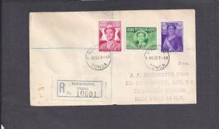 1950 Registered Birthday Issue Nukualofa,  Tonga Nov 1 - 1950 photo