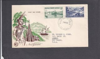 1963 Wcs Cachet 8d & 2/3d Fdc - Port Moresby My 8 - 1963 photo