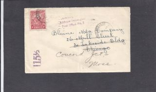 1927 Barbados To Chicago,  Il Cover - Multi Markings photo