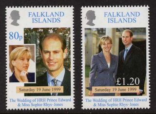 Falkland Islands 729 - 30 Prince Edward,  Sophie Rhys - Jones Wedding photo