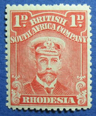 1913 Rhodesia 1d Scott 120f S.  G.  193 Cs09803 photo