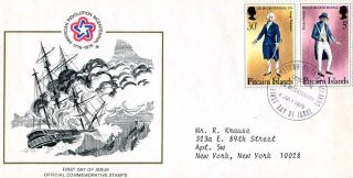 Pitcairn Island First Day Cover American Bicentennial 1976 photo