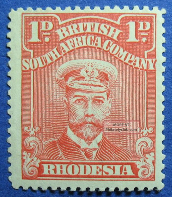1923 Rhodesia 1d Scott 120k Variety S.  G.  289 Nh Cs09811 British Colonies & Territories photo