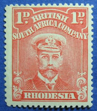 1923 Rhodesia 1d Scott 120k Variety S.  G.  289 Nh Cs09811 photo