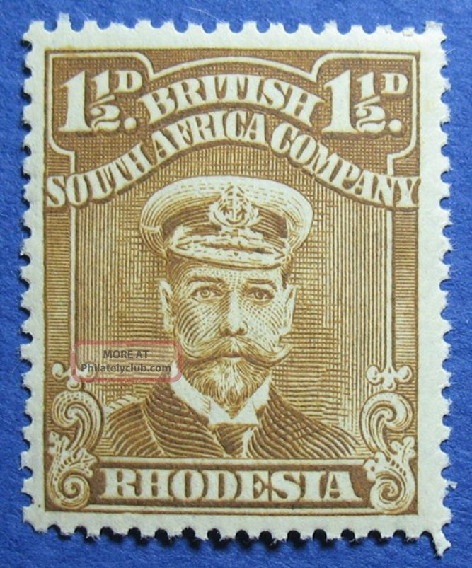1919 Rhodesia 1 1/2d Scott 121b S.  G.  206 Nh Cs09814 British Colonies & Territories photo