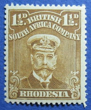 1919 Rhodesia 1 1/2d Scott 121b S.  G.  206 Nh Cs09814 photo