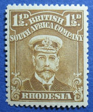1919 Rhodesia 1 1/2d Scott 121b S.  G.  206 Nh Cs09816 photo