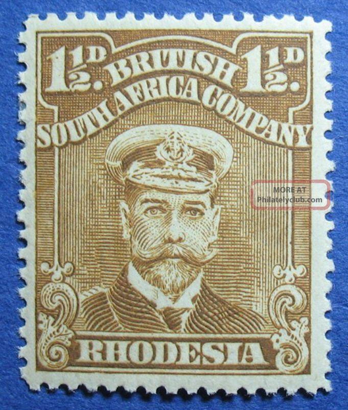 1919 Rhodesia 1 1/2d Scott 121b S.  G.  206 Cs09817 British Colonies & Territories photo