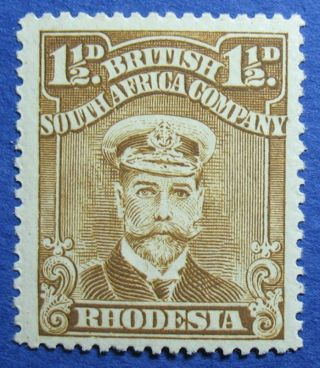 1923 Rhodesia 1 1/2d Scott 121f S.  G.  290 Cs09822 photo