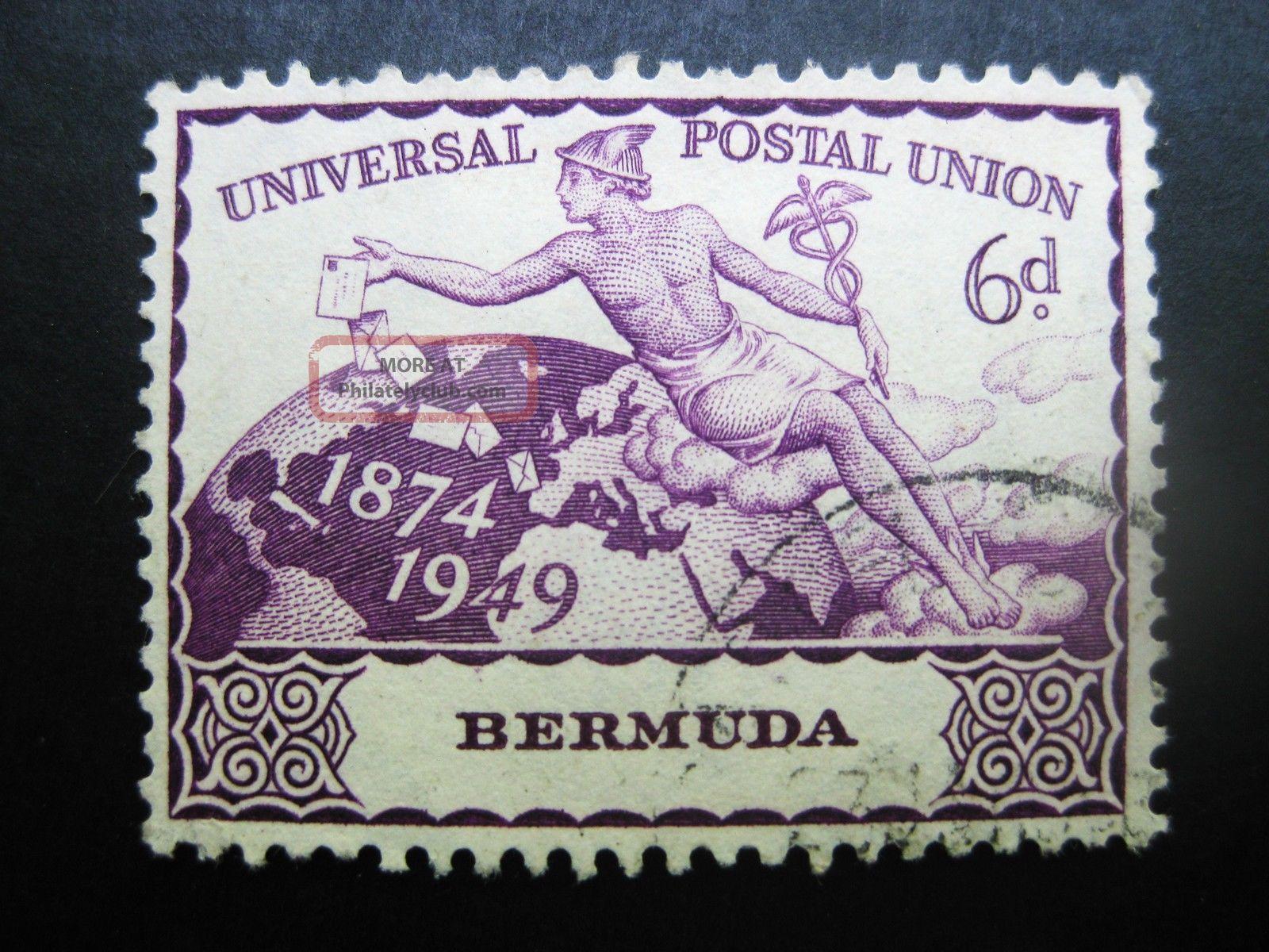 Bermuda 1949 6p Rosevio Stamp Sc 140