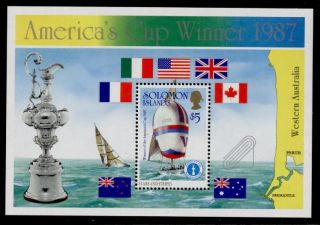 Solomon Islands 575 America ' S Cup Yacht Racing,  Flags,  Boats photo
