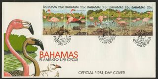 Bahamas 509 Fdc Birds,  Flamingoes photo