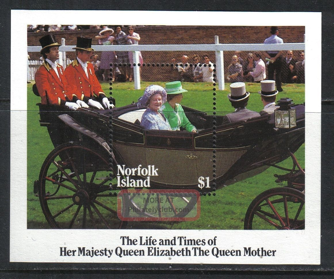 Norfolk Island 1985 Queen Mother 85th Birthday Ss - - Attractive Topical (368) British Colonies & Territories photo