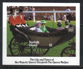 Norfolk Island 1985 Queen Mother 85th Birthday Ss - - Attractive Topical (368) photo