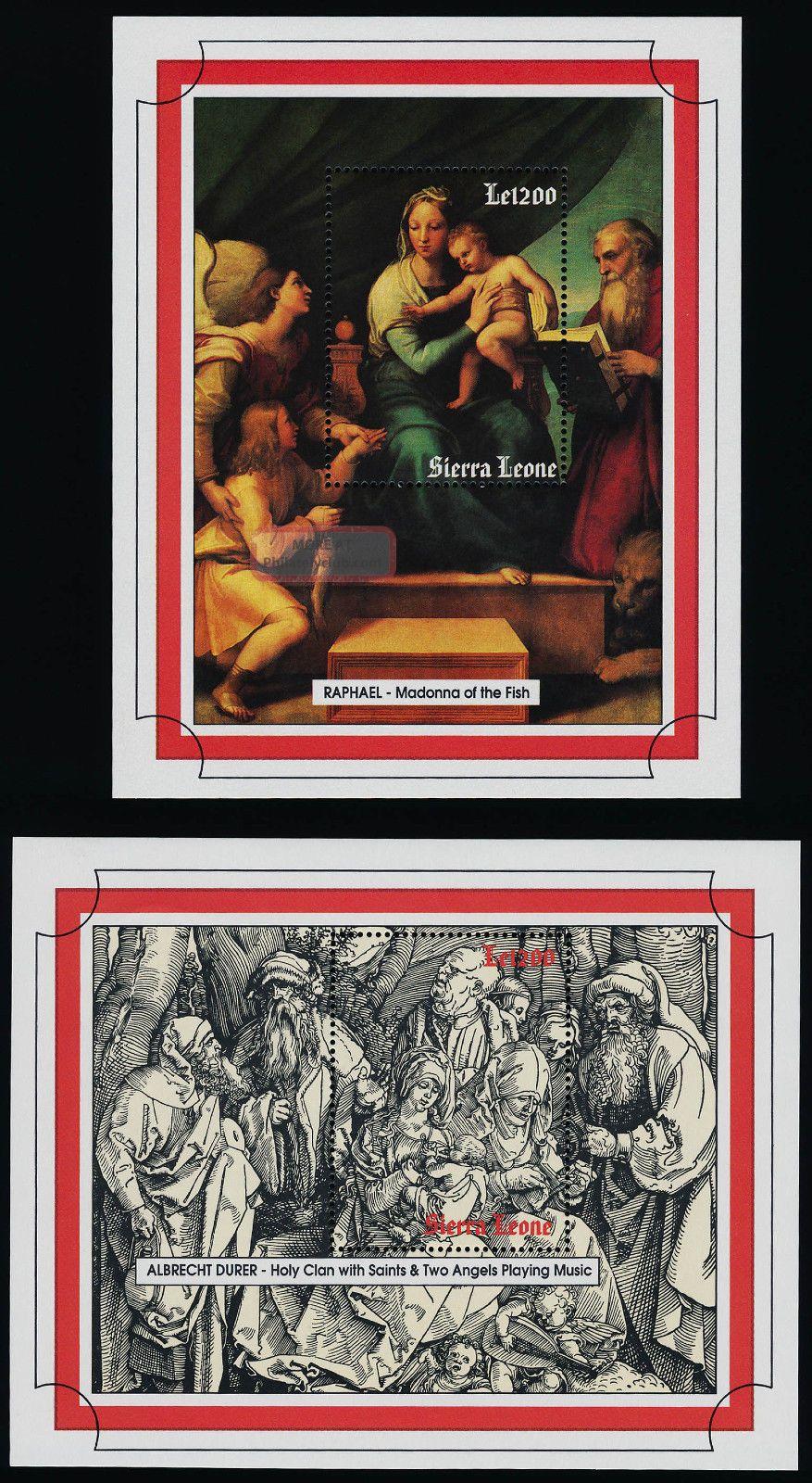 Sierra Leone 1690 - 1 Art,  Paintings,  Durer,  Raphael British Colonies & Territories photo