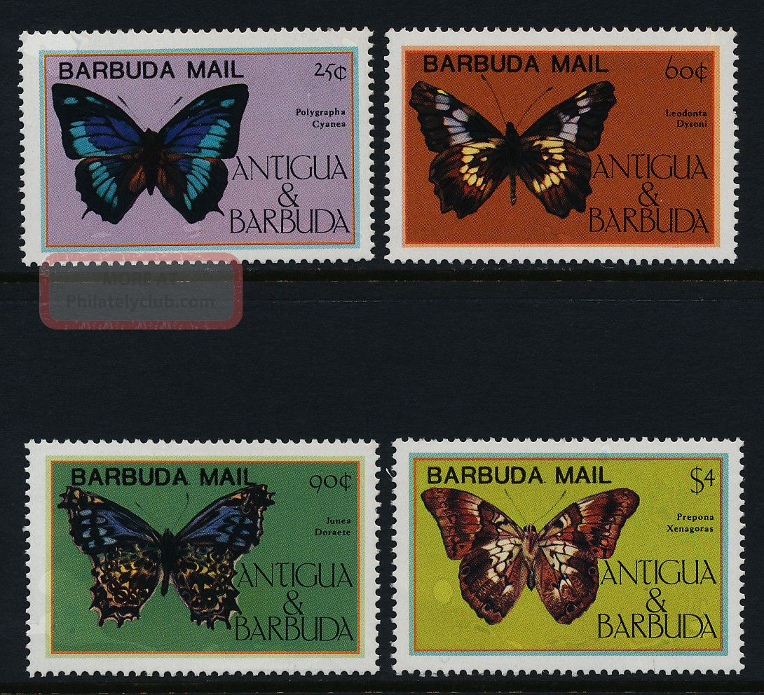 Barbuda 714 - 7 Butterflies British Colonies & Territories photo